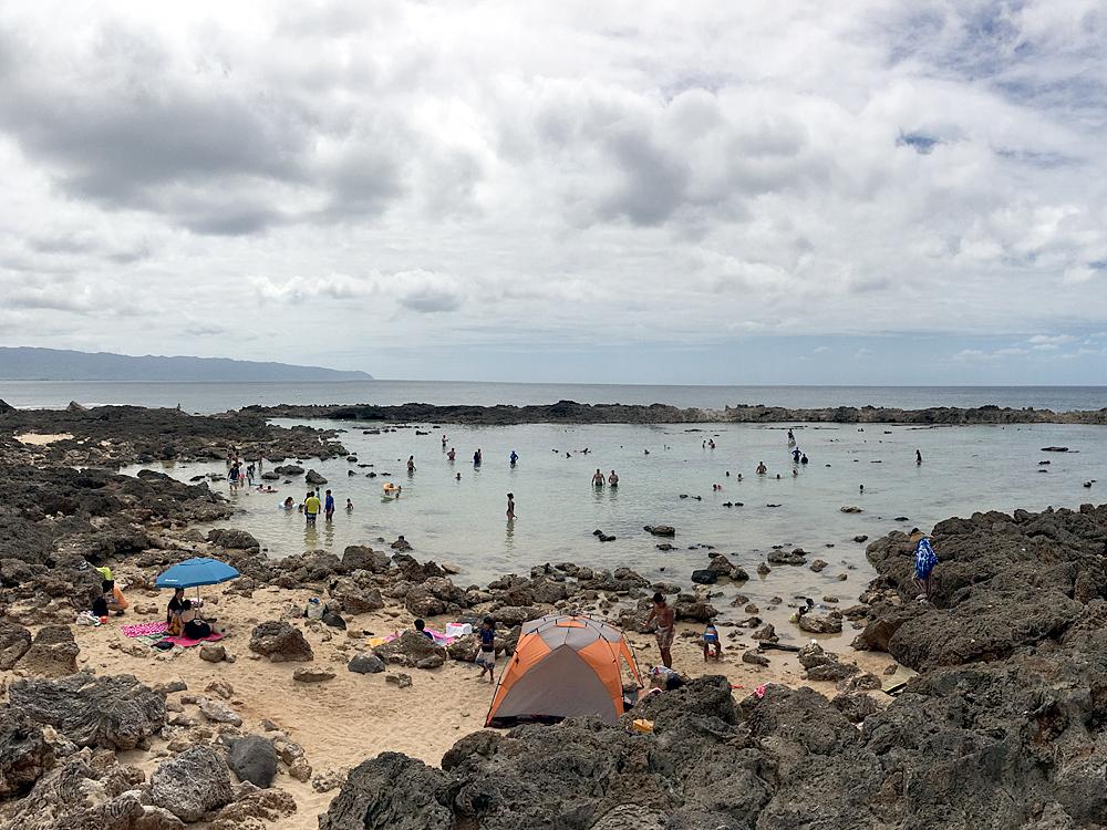 ププケアビーチでテント