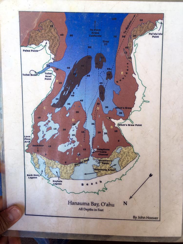 ハナウマ湾の地図